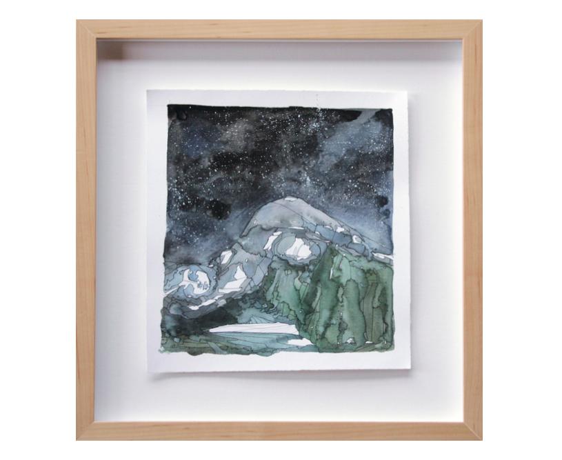Moraine gouache watercolor ink nightscape sleeping giants painting andrea durfee.jpg
