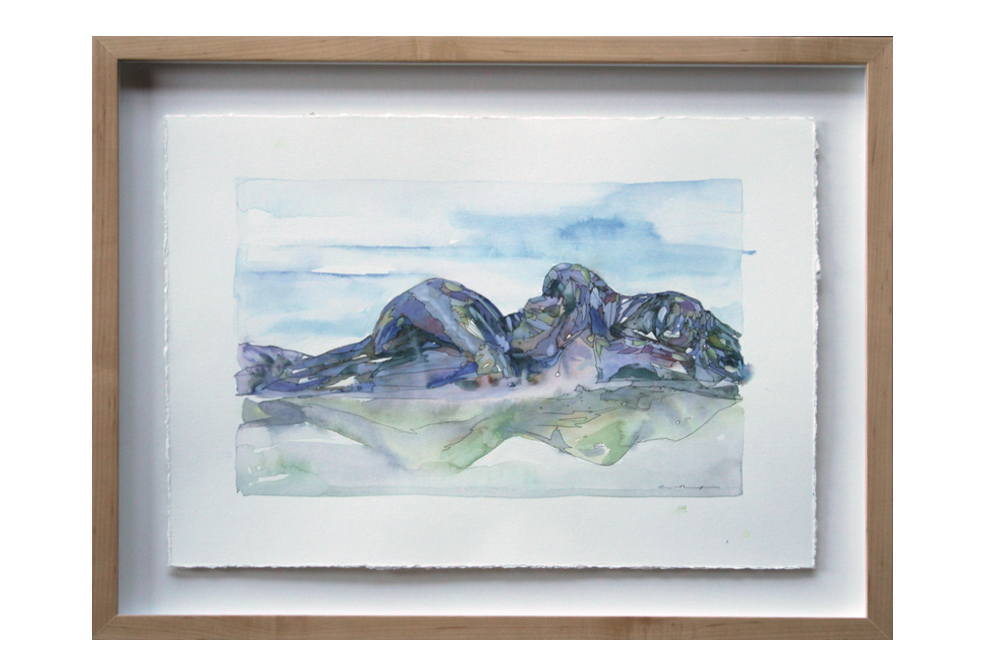 Erratic watercolor gouache ink landscape painting sleeping giants rochester ny andrea durfee makers gallery.jpg