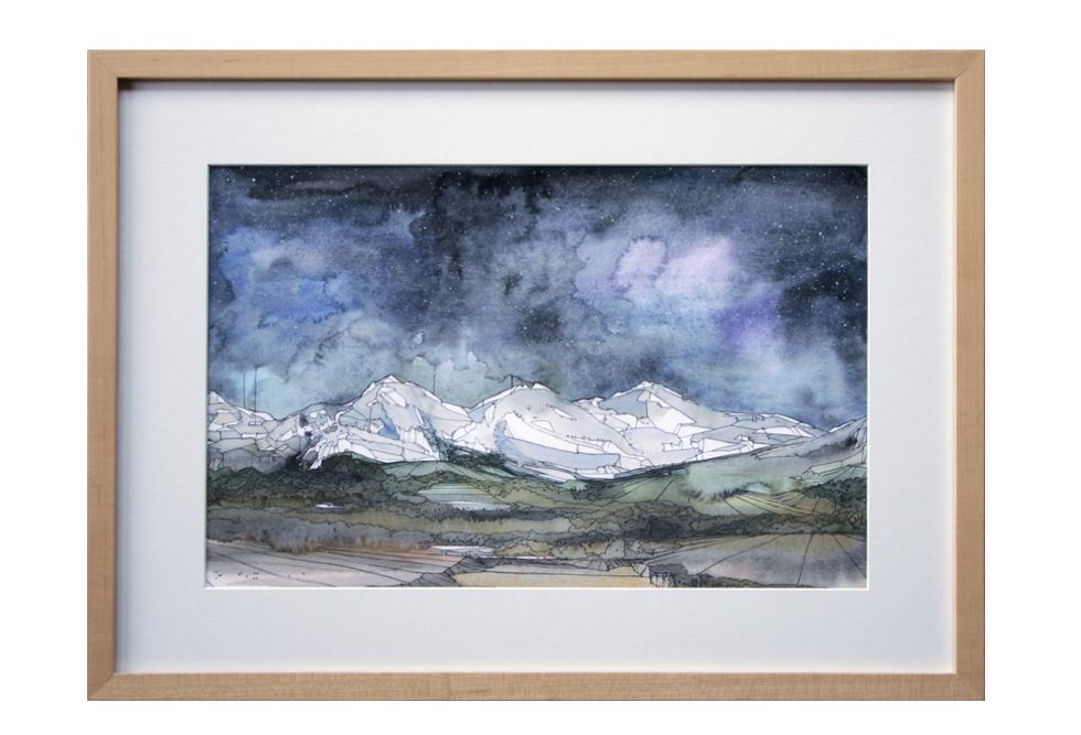 The Murmer watercolor gouache and ink landscape painting sleeping giants rochester ny makers gallery andrea durfee.jpg