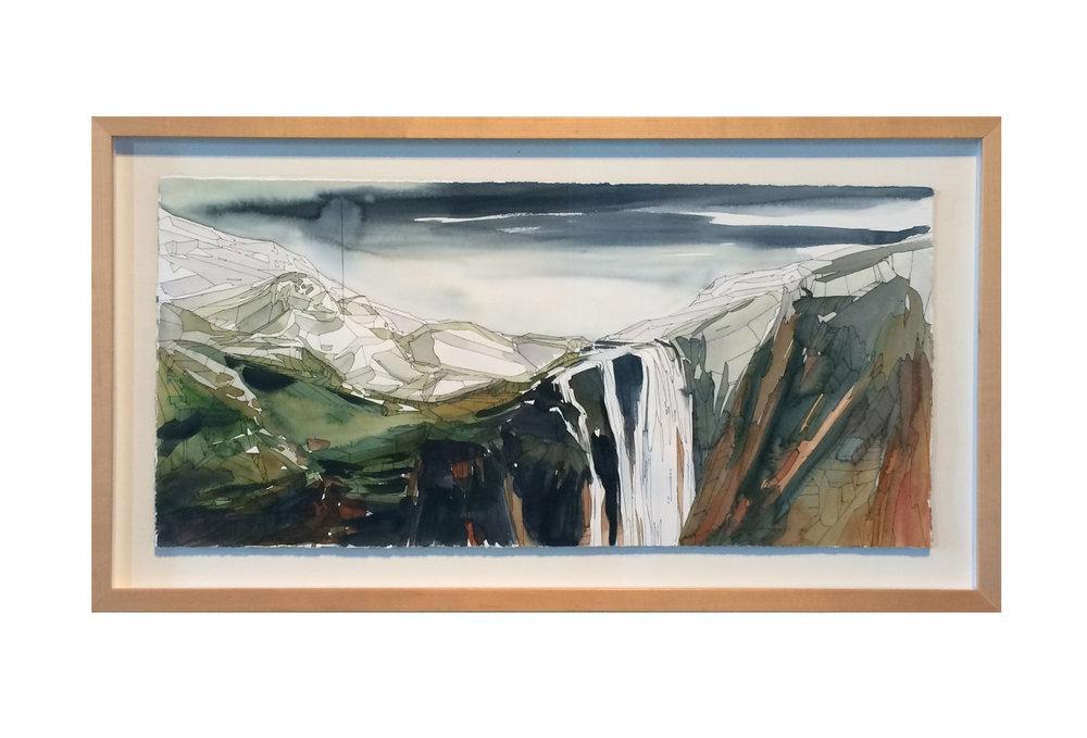 Torridon watercolor gouache and ink landscape painting sleeping giant makers gallery andrea durfee.jpg