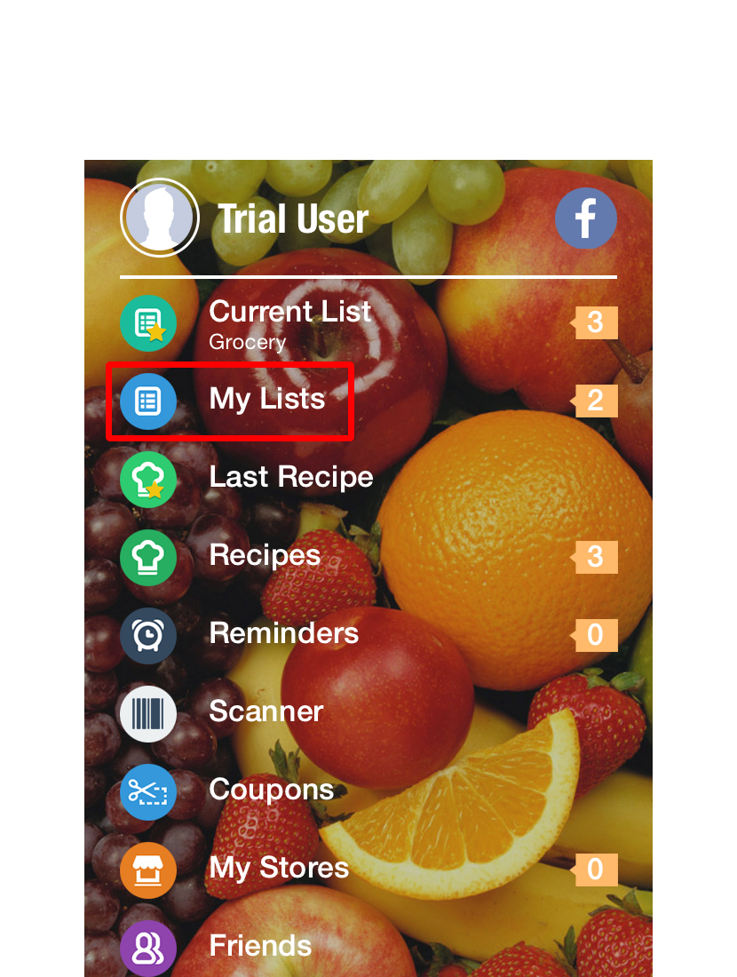 Let's start with a Shopper basic by making a list. From the Home Screen, Select the My Lists icon.