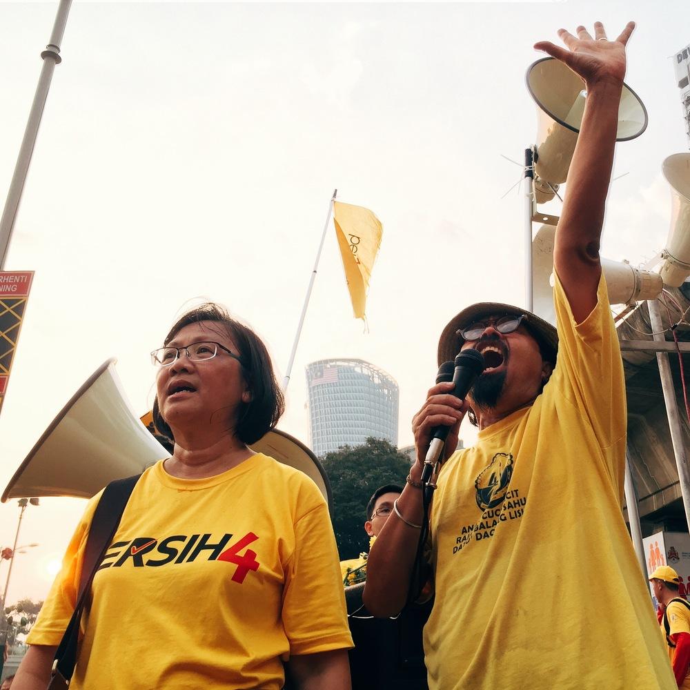 Organisers Maria Chin and Hishamuddin Rais.