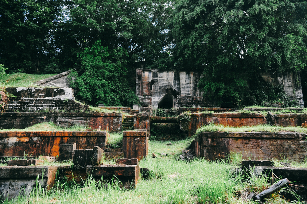 Ruins of the former Bukit Besi iron ore refinery.