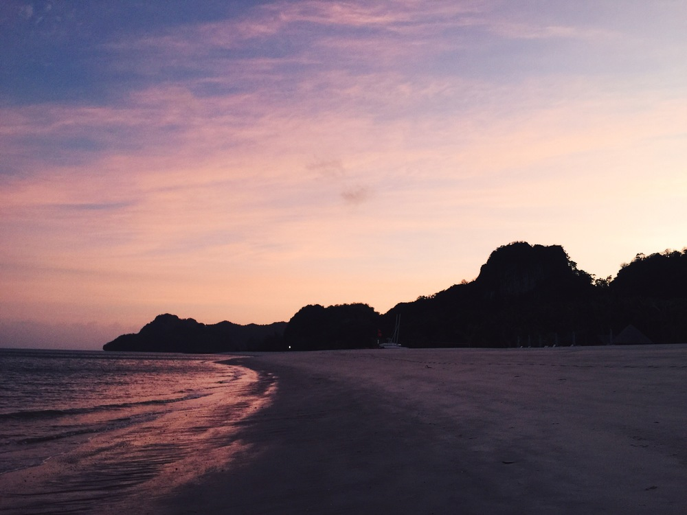 The Langkawi shoreline by dawn.