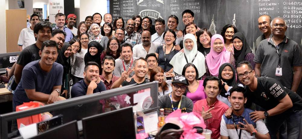 The team behind The Malaysian Insider. Photo credits:  The Malaysian Insider