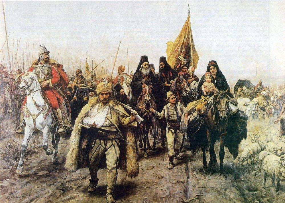 Migration of the Serbs by  Paja Jovanović .