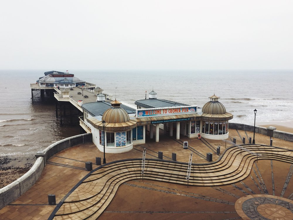 The popular Cromer Pier. It was burnt down a few times over the decades.