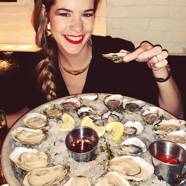 Lots of oysters in East Village last night with @yahyahjewelry at the always awesome @themermaidnyc.
