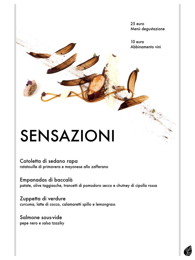 Esempio di menù degustazione realizzato con i nuovi piatti MASHUP! . *costo dell'intero menù 8 euro. (mezze porzioni)