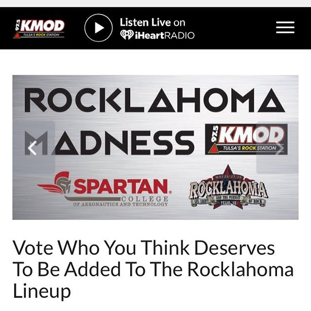 Make sure you go vote for us to play @rocklahoma!! The link is in our description. #rocklahoma #rocknroll #ironglide