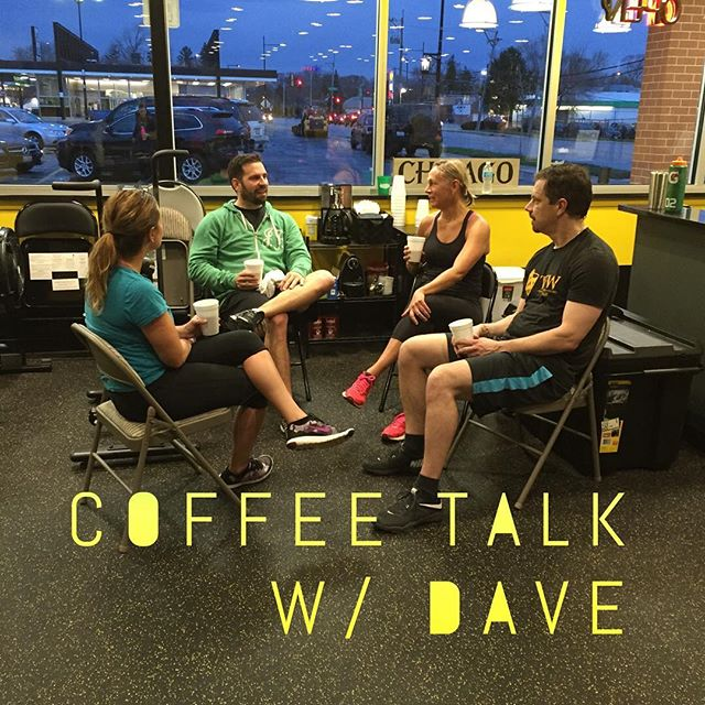 Dave is running the Coffee Talk solo while Darrin is in Vegas. Dave shared life lesson today and how to be a badass. #TFW #trainmorefearless #fitness #barbell @dknickerbocker18