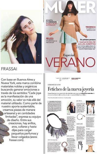 FRASSAÏ feature in Clarín Mujer