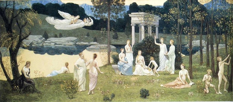 The Sacred Wood Cherished by the Arts and the Muses Pierre Puvis de Chavannes 1884