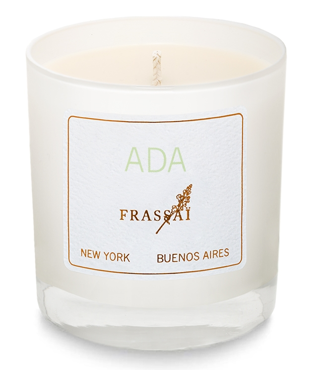 Gardenias bloom in Buenos Aires during summertime. Ada is a sultry dew-covered gardenia inspired by Argentine tango diva Ada Falcon