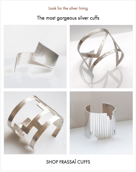 Frassaï silver cuff collection
