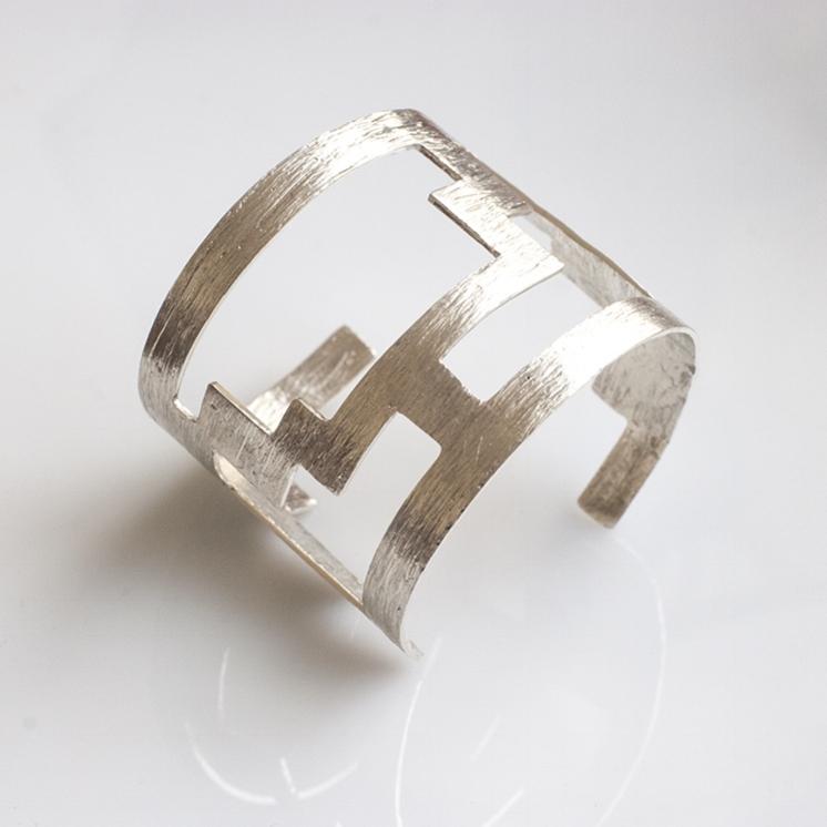 Frassaï Celesta Cuff in Textured Sterling Silver