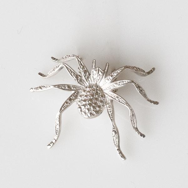 Aracne silver brooch by Frassaï