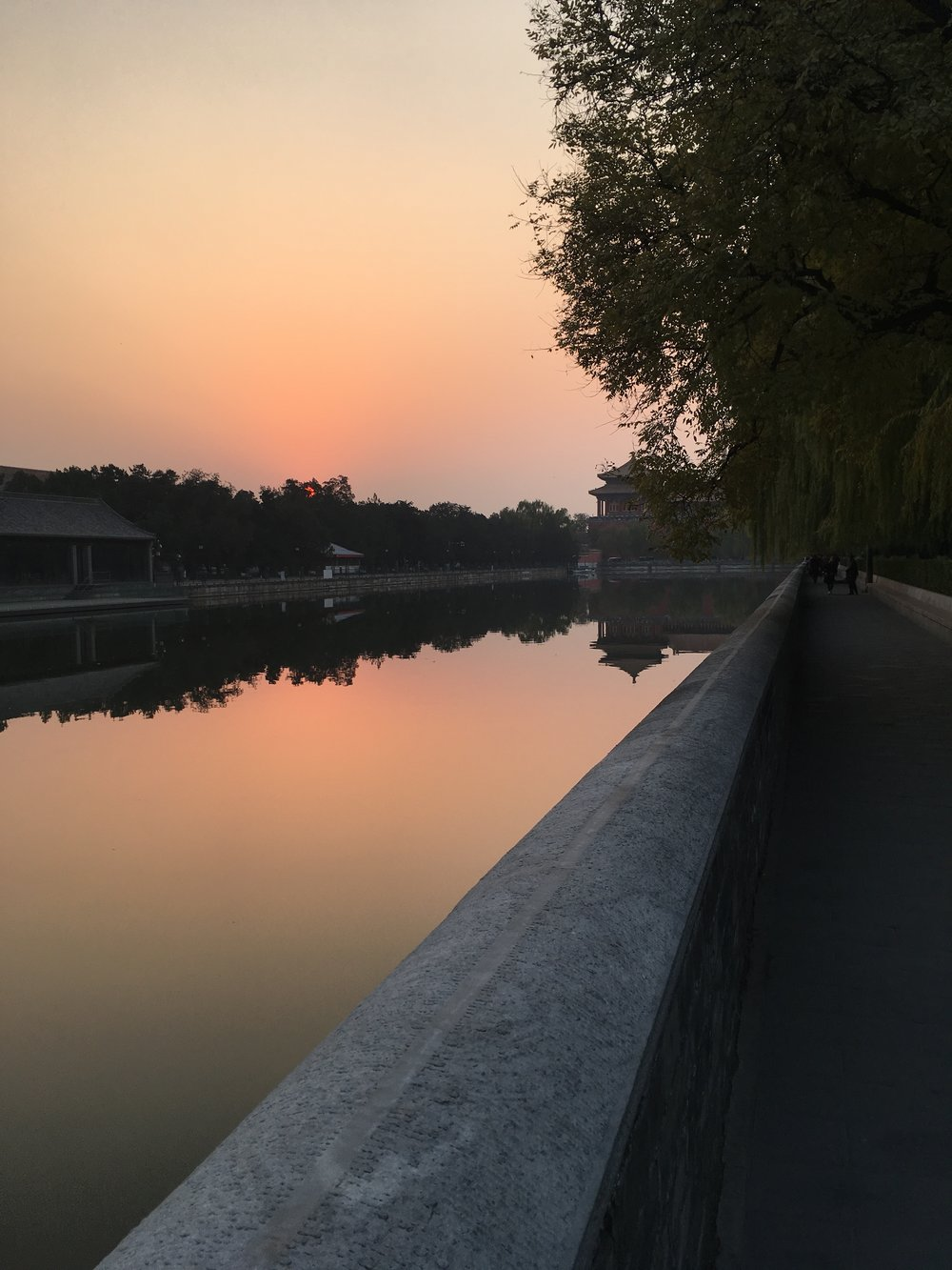 Frassaï travels to China - Sunset in the Forbidden City, Beijing