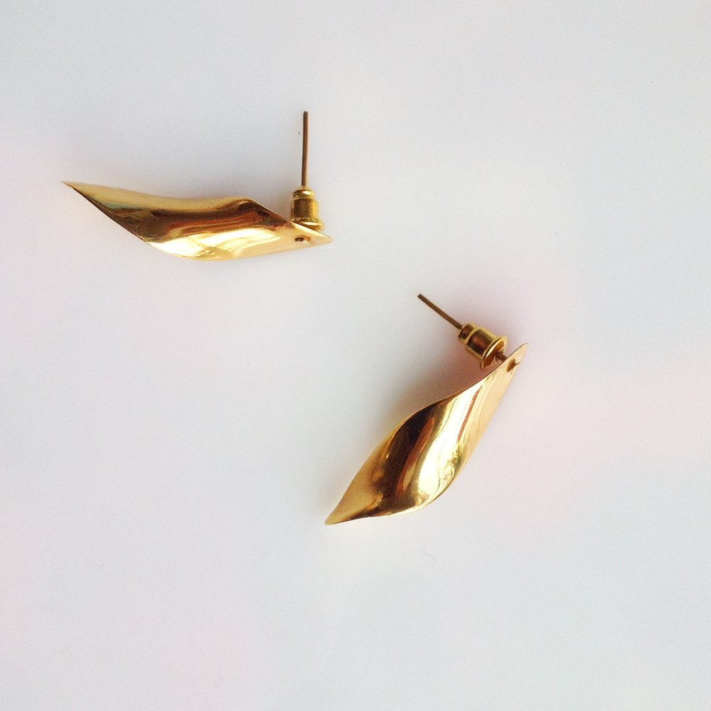 FRASSAI Gold Earrings Jardin Collection