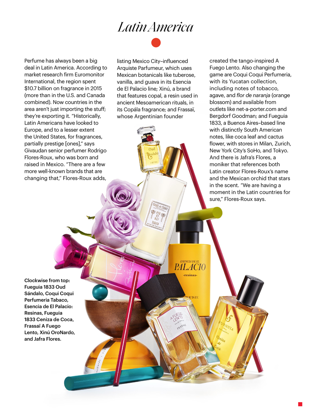 Allure magazine feature A Fuego Lento, FRASSAÏ Latin American scents