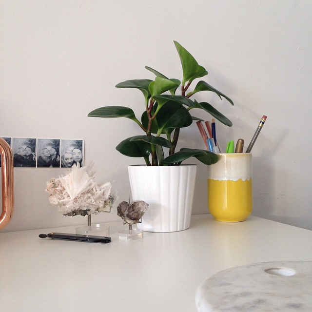 Always trying to create #officeinspiration. Loving my little corner #vignette right now!