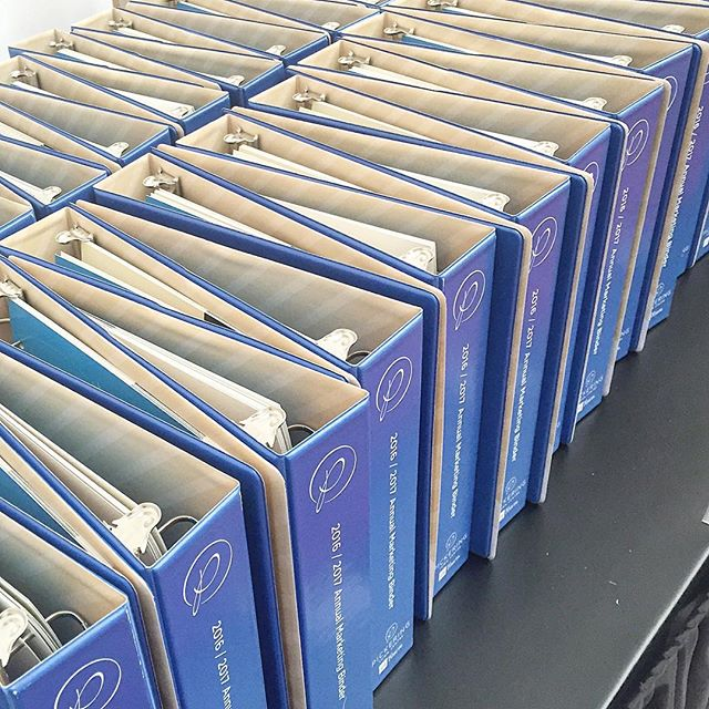 Repetition for emphasis. Loving the way our binders at the @pickeringtowncentre 2016 Annual Retailer Meeting