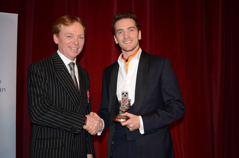 The highest award in the UK - Matthew is the proud holder of the title 'The Magic Circle Close-up Magician of The Year 2017'.He impressed judges with his effortless 'technique' and original 'presentation' unanimously awarding him his place as UK Magic Champion, one of the youngest ever recipients of the title at 27.