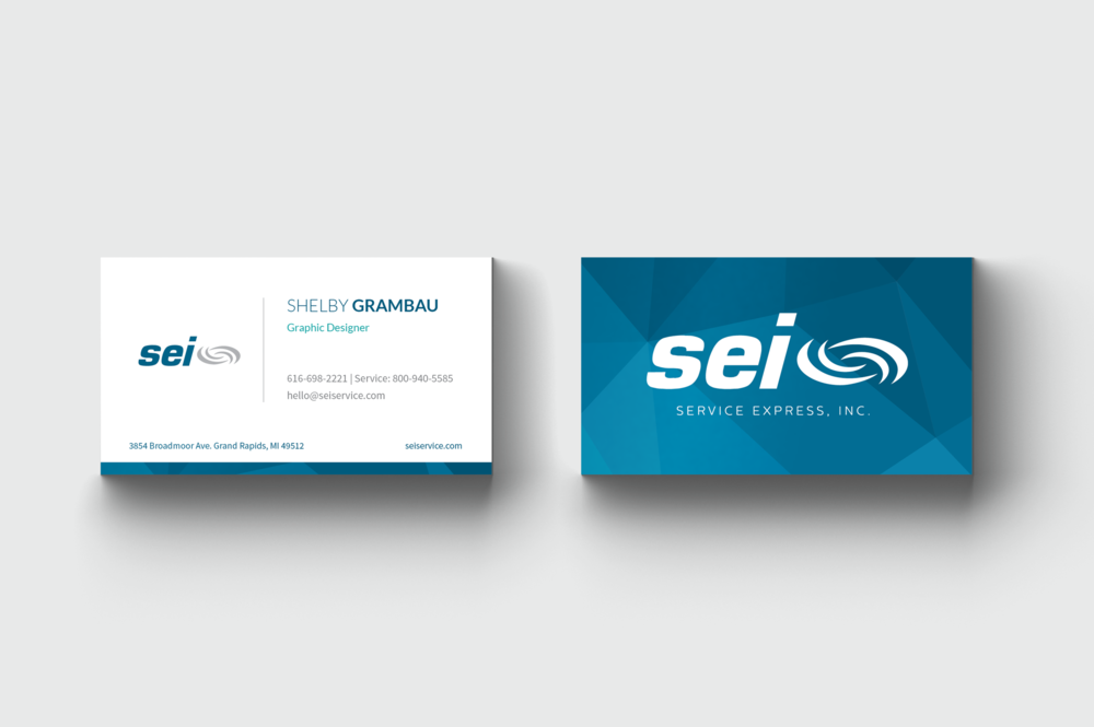 Service express business card sg design business card side by side viewg reheart Gallery