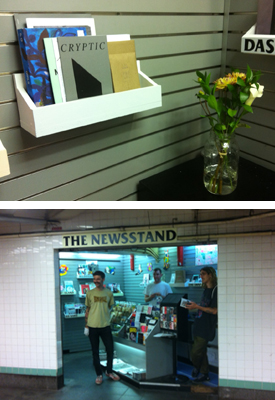 Artist Books Available  at Newsstand  Cryptic Rays, New Vision Alliance & Ancient Dreams (The book we've all been waiting for)  An independent media Newsstand located in the Metropolitan L / Lorimer G subway station in Williamsburg. Featuring independent magazines and zines from around the world. Curated by Lele Saveri of the 8-Ball Zine Fair for ALLDAYEVERYDAY