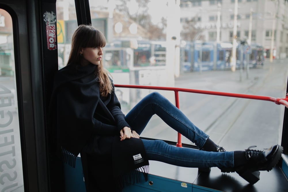 acne scarf minimalistic katharina holler