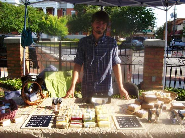 Michael at the Statesboro Farmer's Market in May of 2013