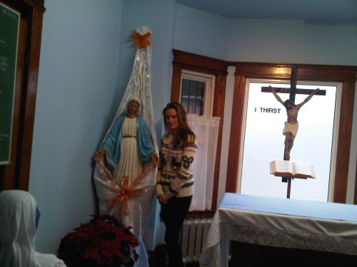 Jennifer Steele inside Missionaries of Charity. January 2013.