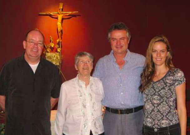 Left to Right: Br. David Lynch, Elizabeth McLaughlin, Michael Steele, Jennifer Steele