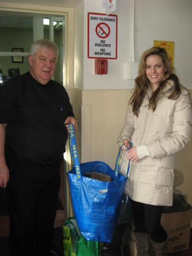 Donating winter wear and supplies to Good Shepherd in Toronto January and February 2012