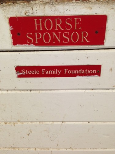 Horse Sponsorship by The Steele Family Foundation