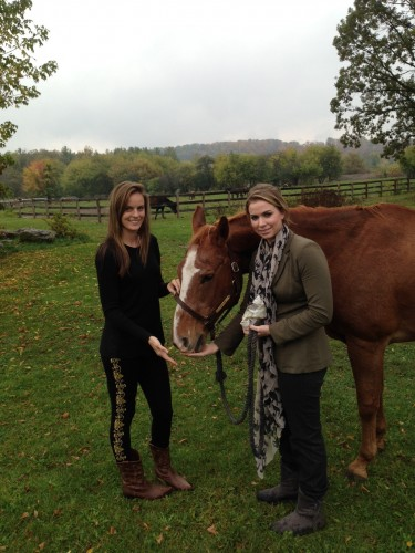 Jennifer and Amanda Steele with Pipper