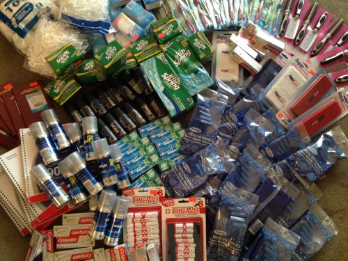 The essentials, like soap, toothbrushes and shaving supplies, will serve as stocking stuffers for this year's holiday season. Delivered by Jennifer Steele.