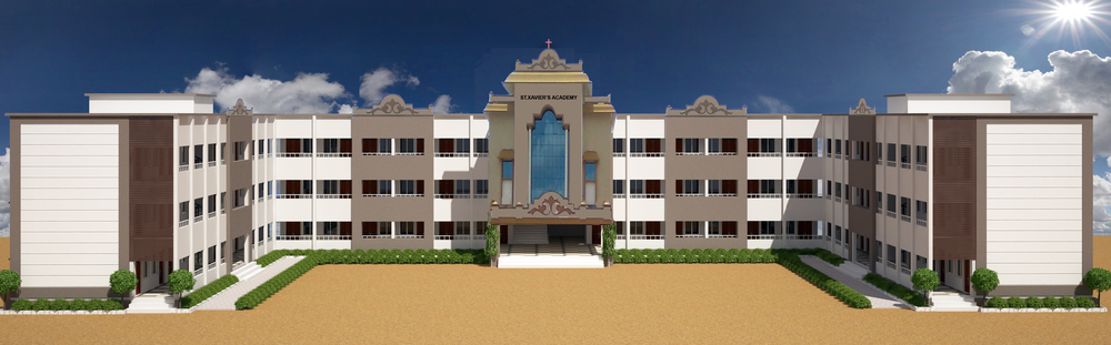 Artist rendering of the completed 3-storey school.