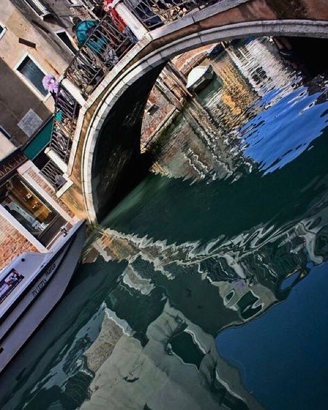 """Even the murky, rippled reflection in the canals cannot stifle the true beauty of #Venice."" • • • #thegirlwhowanders #DarlingEscapes #GirlsWhoTravel #LoveToTravel #SimplyAdventure #WeAreTravelGirls  #DameTraveler #FlashesofDelight #OpenMyWorld #WheretoFindMe #MyTinyAtlas #BeautifulDestinations #passionpassport #tlpicks #WorldCaptures #WorldPlaces #TravelAwesome #ABMTravelBug  #MeetTheWorld #letsgoeverywhere #afar #travelingourplanet #neverstopexploring #exploremore #TheGlobeWanderer #worlderlust #travelwriter #travel #instatravel"