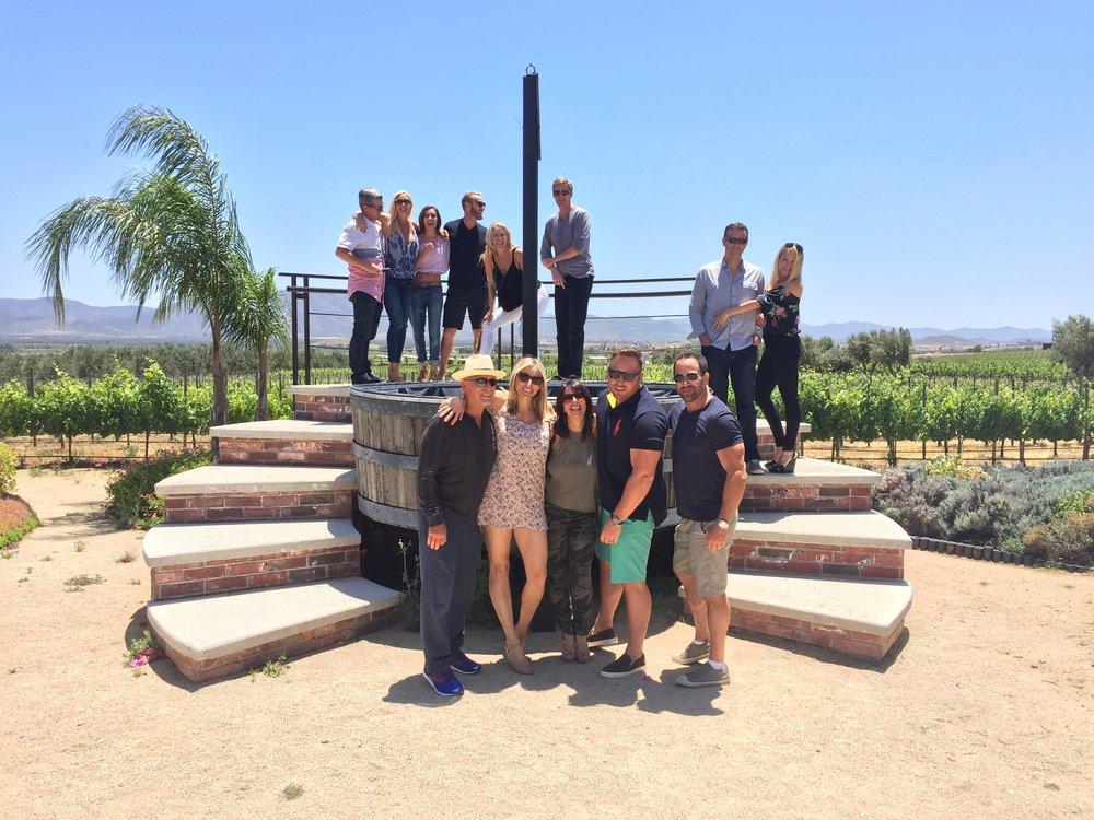 Our guests having a blast at Lomita on our winery tour
