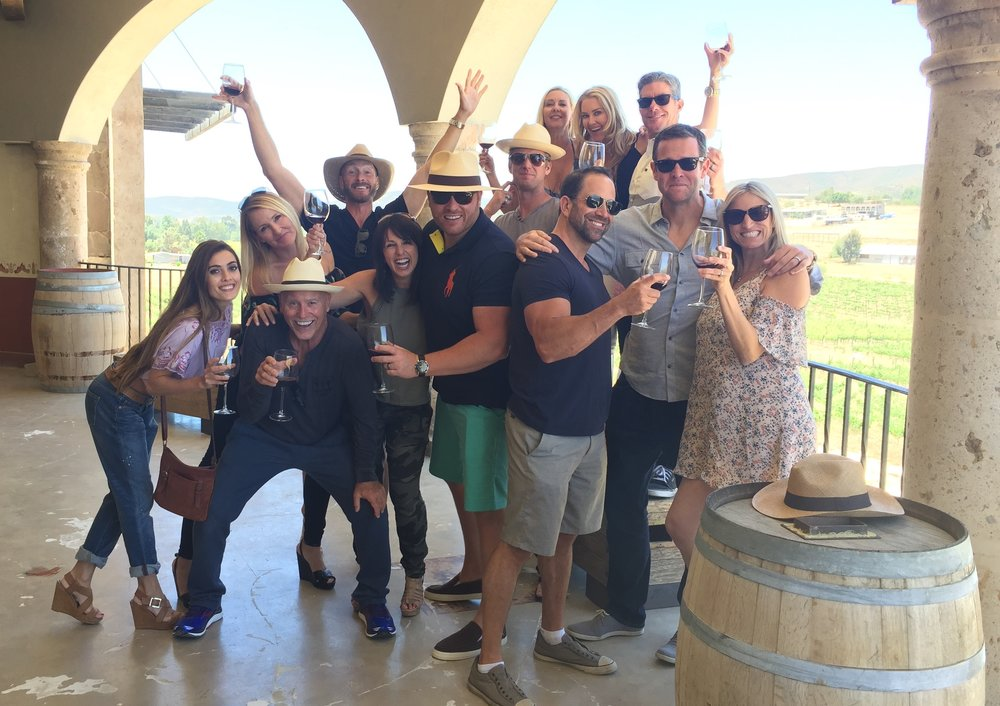 Our group tour enjoying their Valle de Guadalupe tour with us at  Baja Winery Tours !
