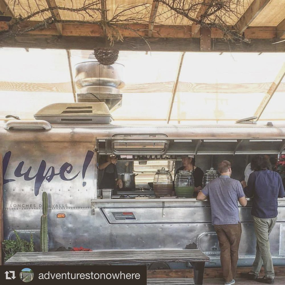 LUPE's Airstream Food Truck. Photo credit: adventurestonowhere
