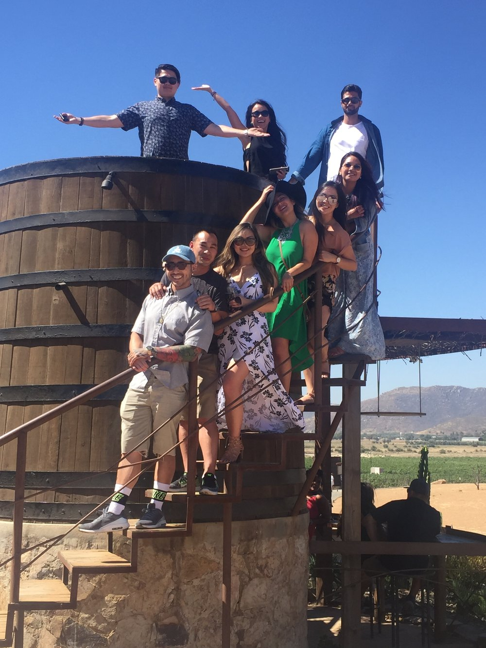 Our tour guests on our Valle de Guadalupe wine tour!