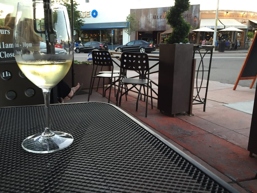 Patio at Village Vino. Photo credit:  Yelp