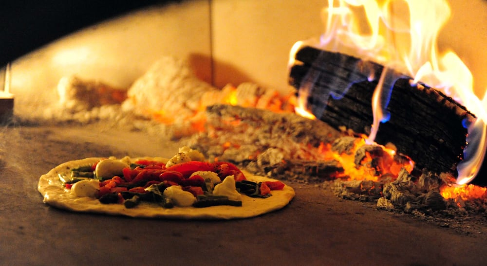 Stone-fired pizza. Photo credit:  Yelp