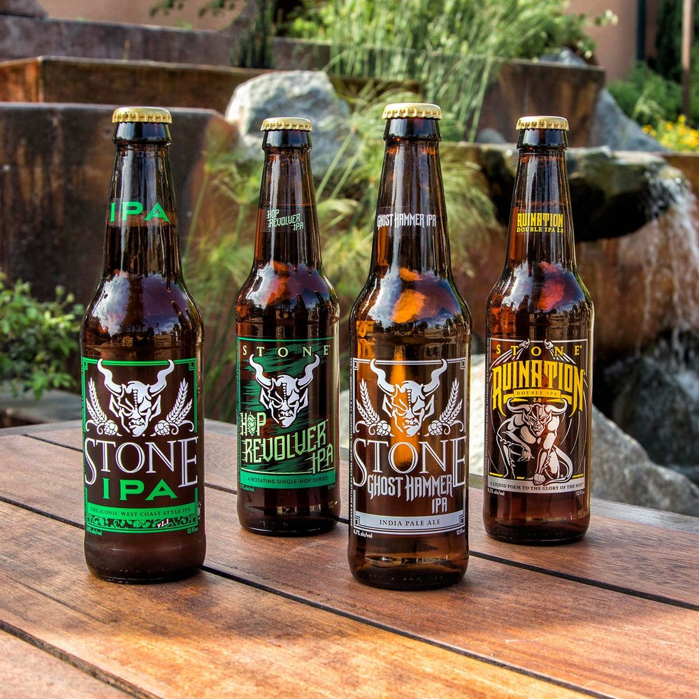 A selection of Stone brews. Photo credit:  Stone Brewing