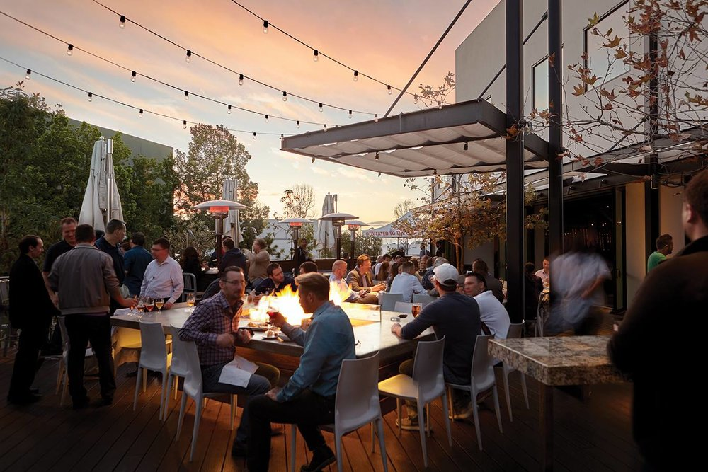 Outdoor patio at the Ballast Point brewery in SD. Photo Credit:  Ballast Point Brewing Company