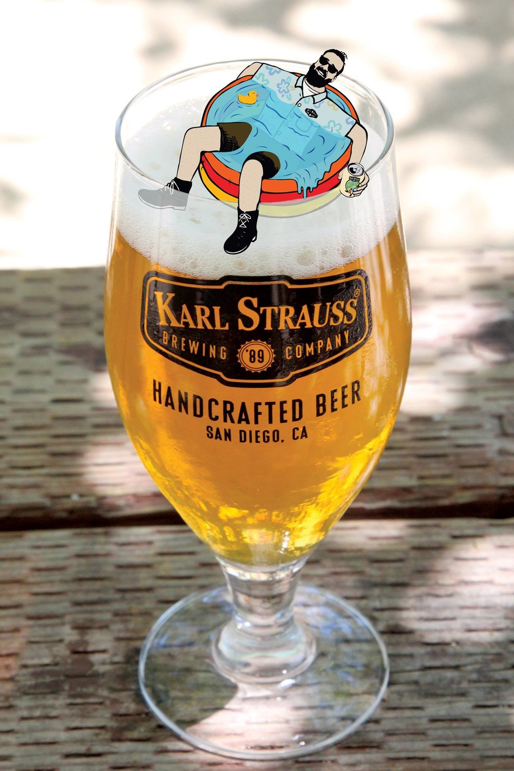 Promoting their English Summer Ale. Photo credit: Karl Strauss Brewing Company