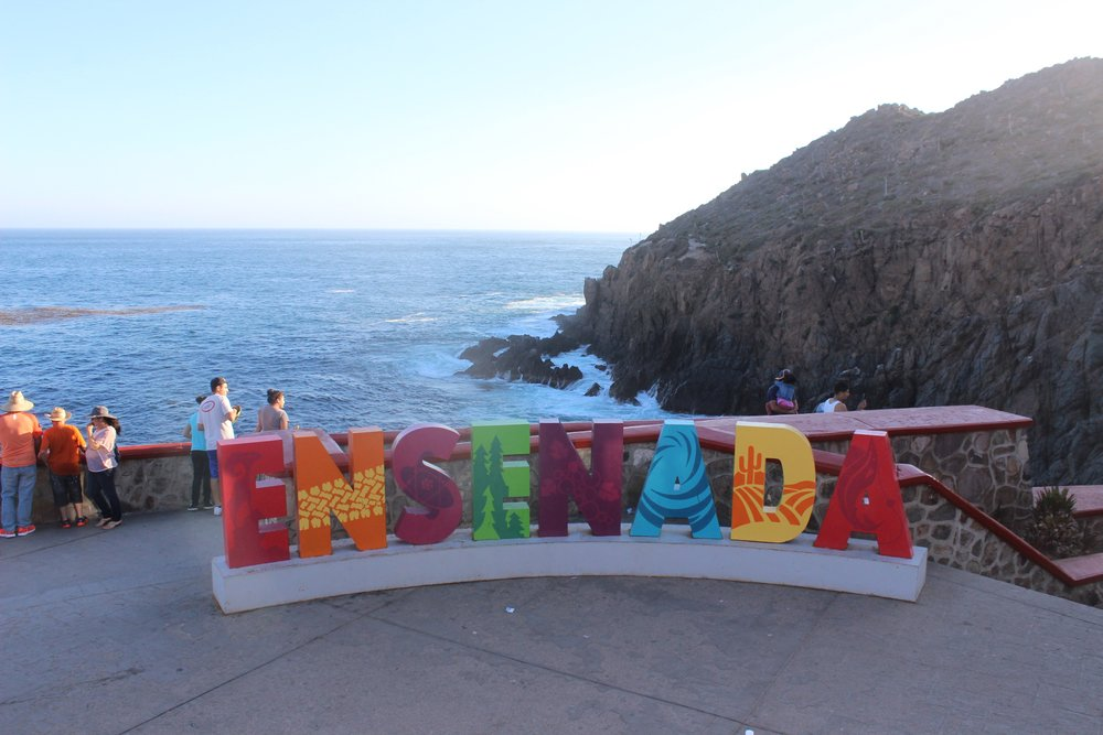 Ensenada Welcome Sign. Photo credit:  Baja Winery Tours