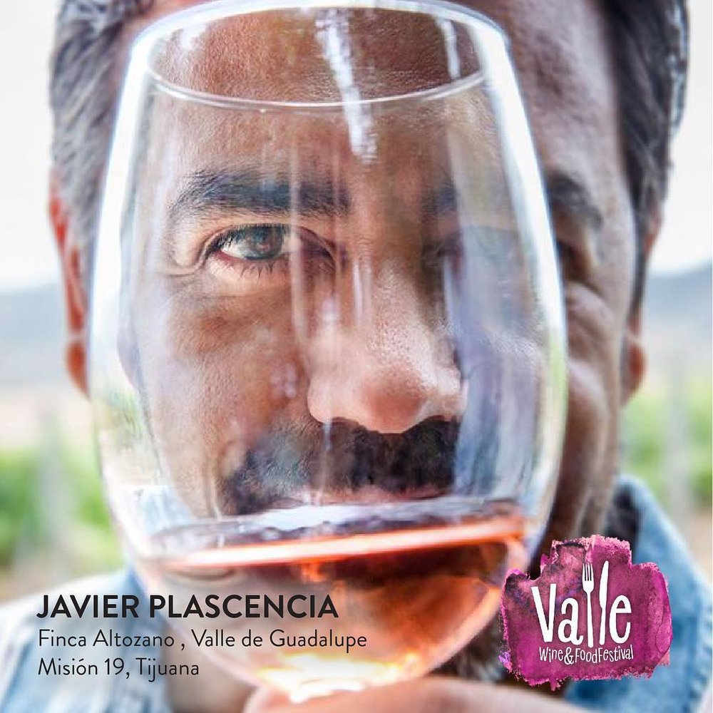 Chef Javier Plascencia promoting his event, the Valle Wine and Food Festival  Photo credit:  Finca Altozano on Instagram
